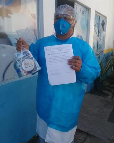 Entrega de EPIs pelo nosso Farmacêutico Fiscal Dr. Flávio 3
